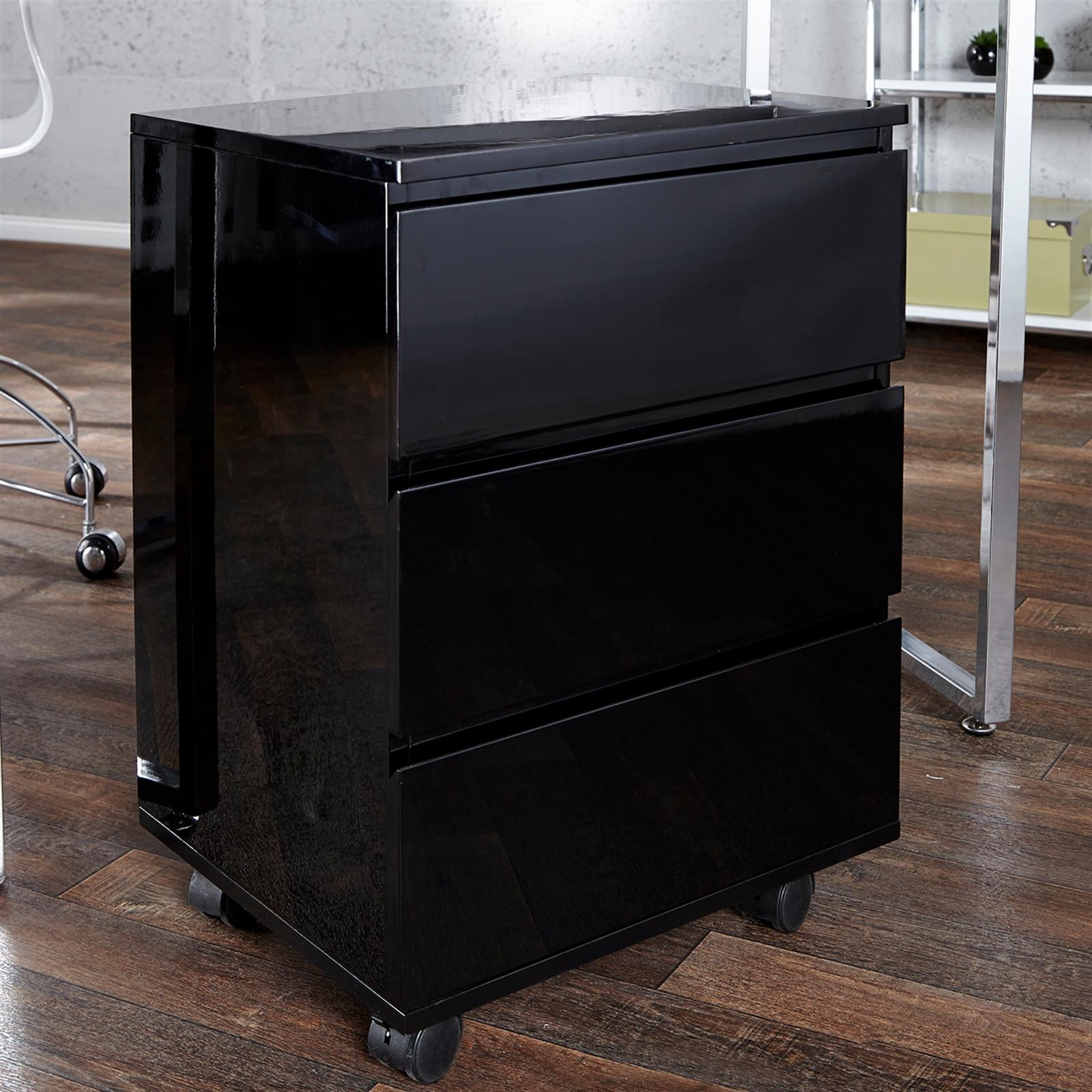 Rollcontainer Schwarz büro rollcontainer move schubladenregal office aufbewahrung