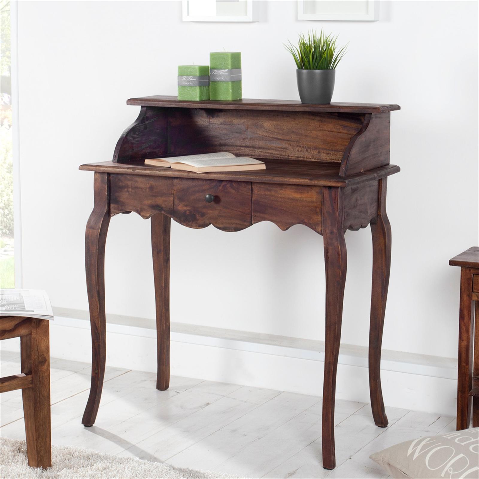 eleganter holz sekret r napoleon braun 80 cm mahagoni schreibtisch eur 199 00 picclick de. Black Bedroom Furniture Sets. Home Design Ideas