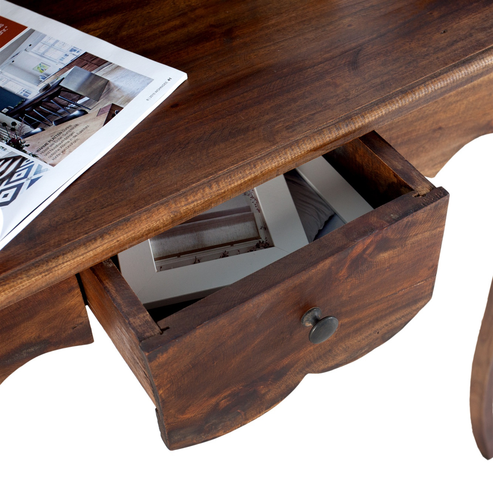eleganter holz sekret r napoleon braun 80 cm mahagoni schreibtisch ebay. Black Bedroom Furniture Sets. Home Design Ideas