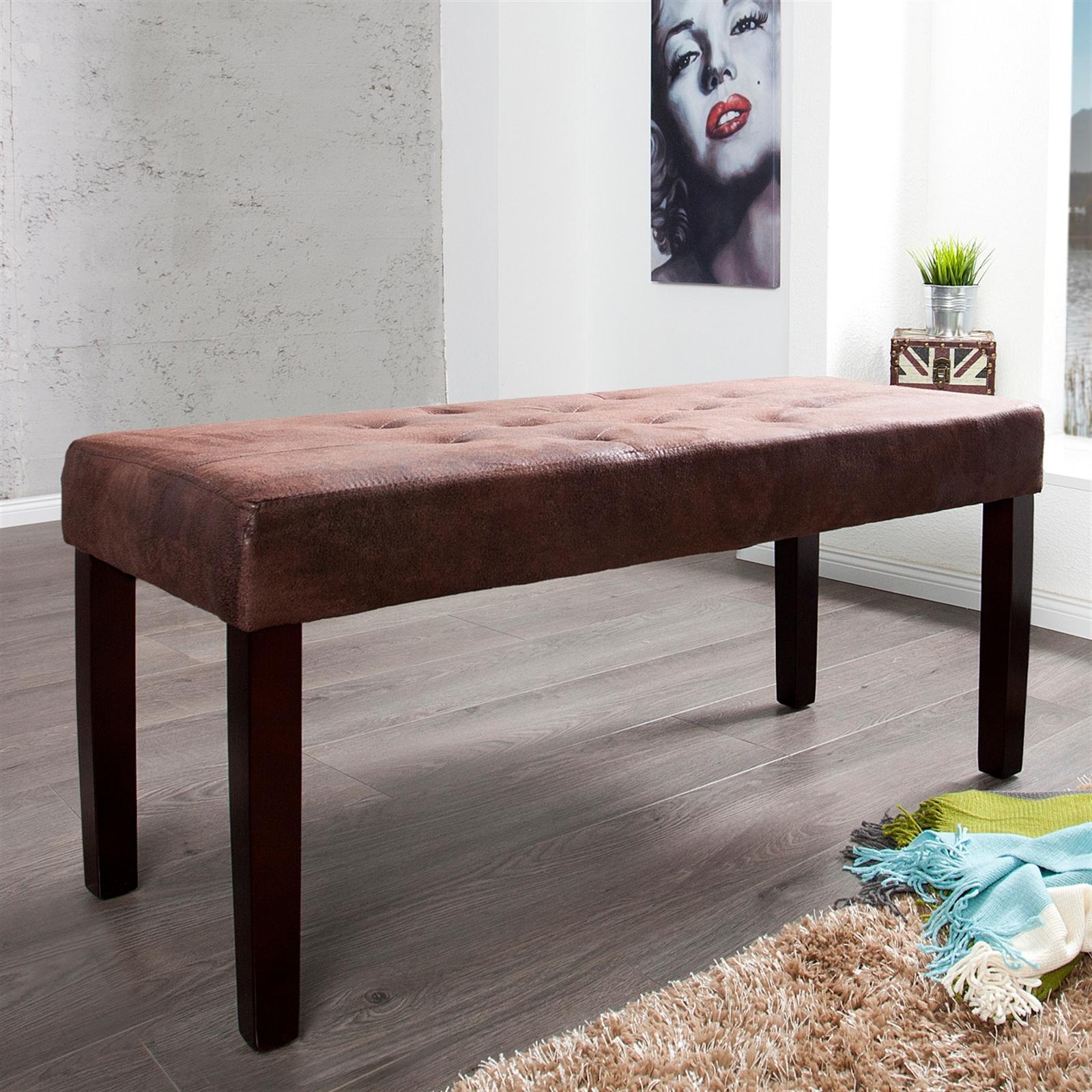 elegante sitzbank william holz 90 cm antik braun holzbank eur 59 95 picclick fr. Black Bedroom Furniture Sets. Home Design Ideas