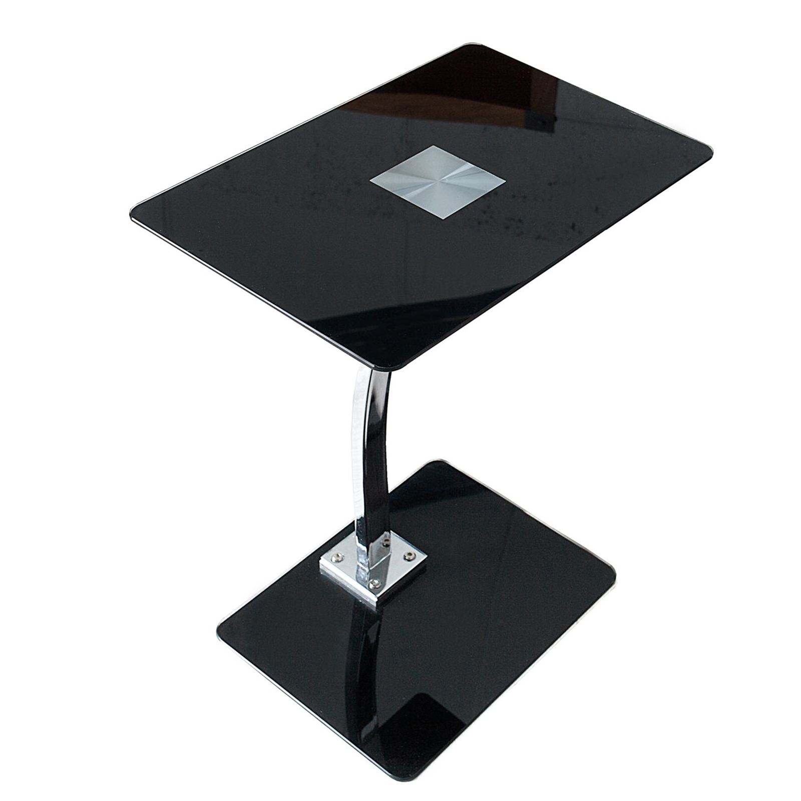 beistelltisch james schwarz glas 58 cm laptop. Black Bedroom Furniture Sets. Home Design Ideas