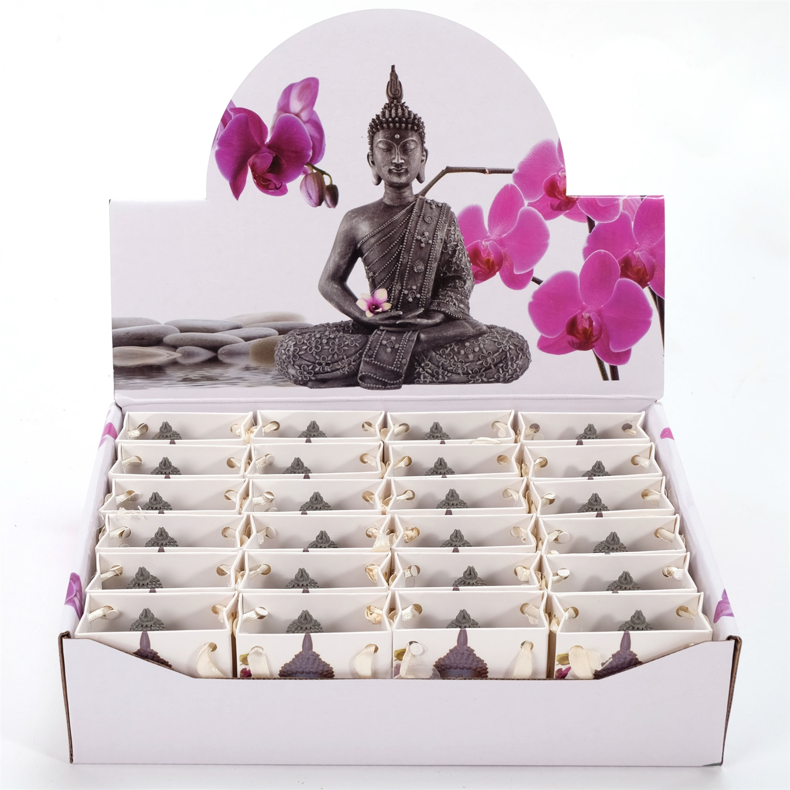 kleine deko figuren mini buddha 24er set grau braun 5 5 cm sitzend ebay. Black Bedroom Furniture Sets. Home Design Ideas