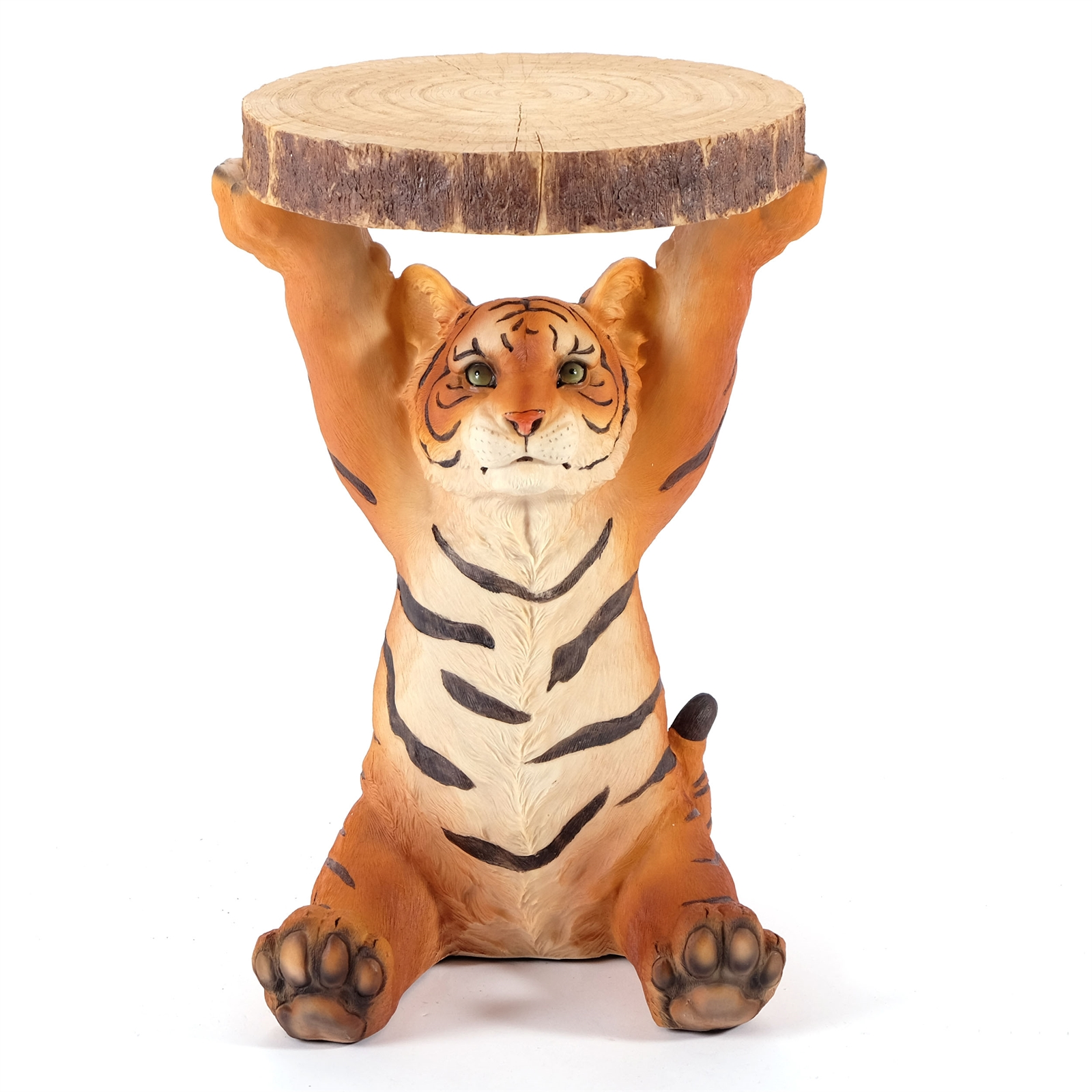 Design Side Table Animal Tiger Multi Cast Stone Kare 78892 Ebay