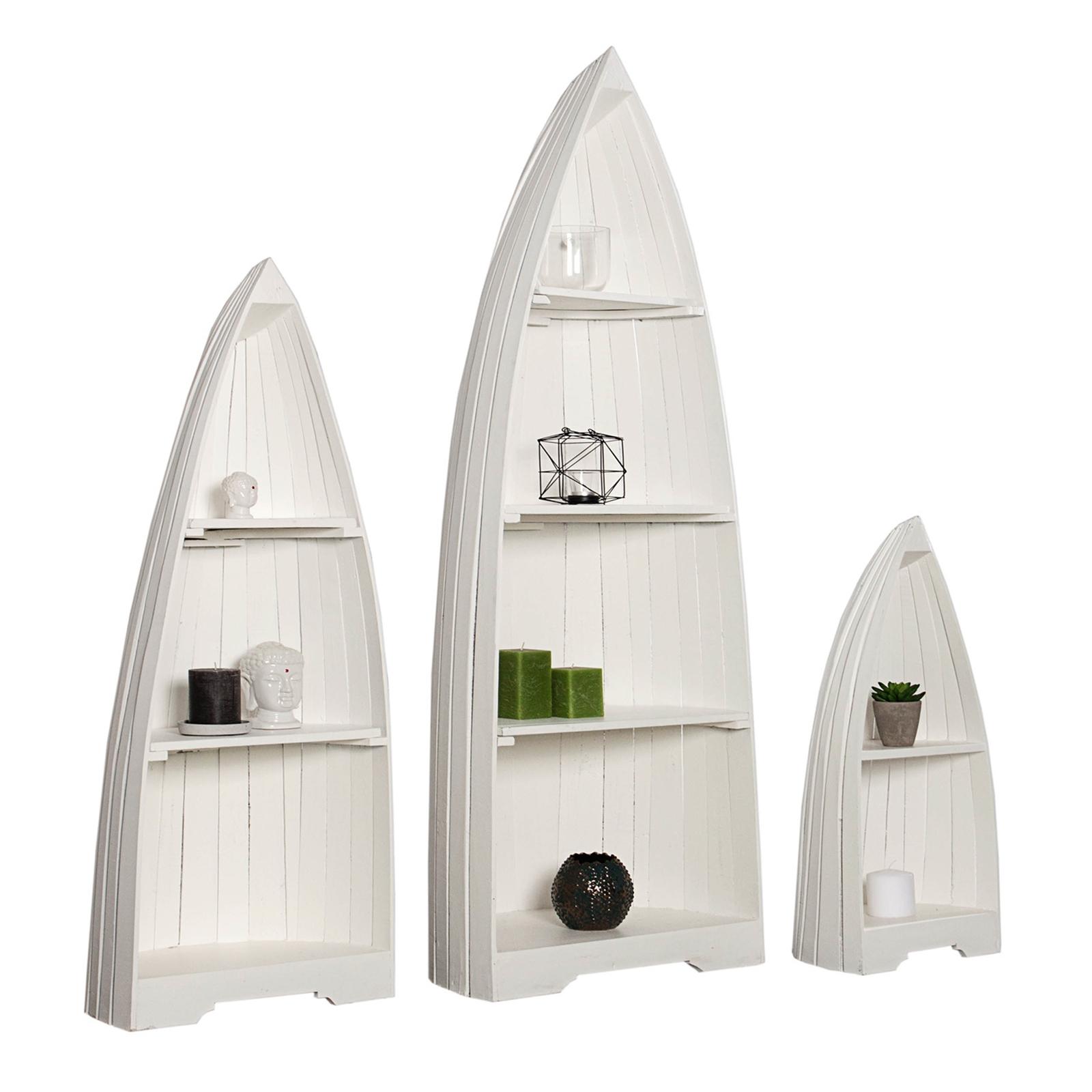 3er set landhaus boot regale nautic mahagoni wei holzregale badm bel ebay. Black Bedroom Furniture Sets. Home Design Ideas