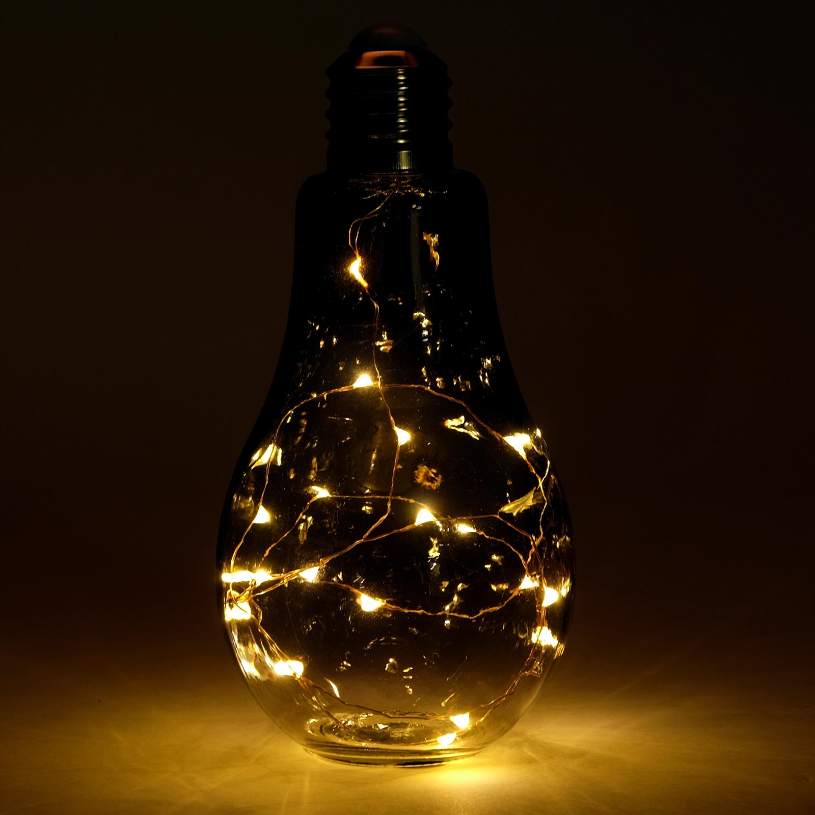 originelle deko leuchte solo glas 19 led rauchgrau gl hbirne dekolampe ebay. Black Bedroom Furniture Sets. Home Design Ideas