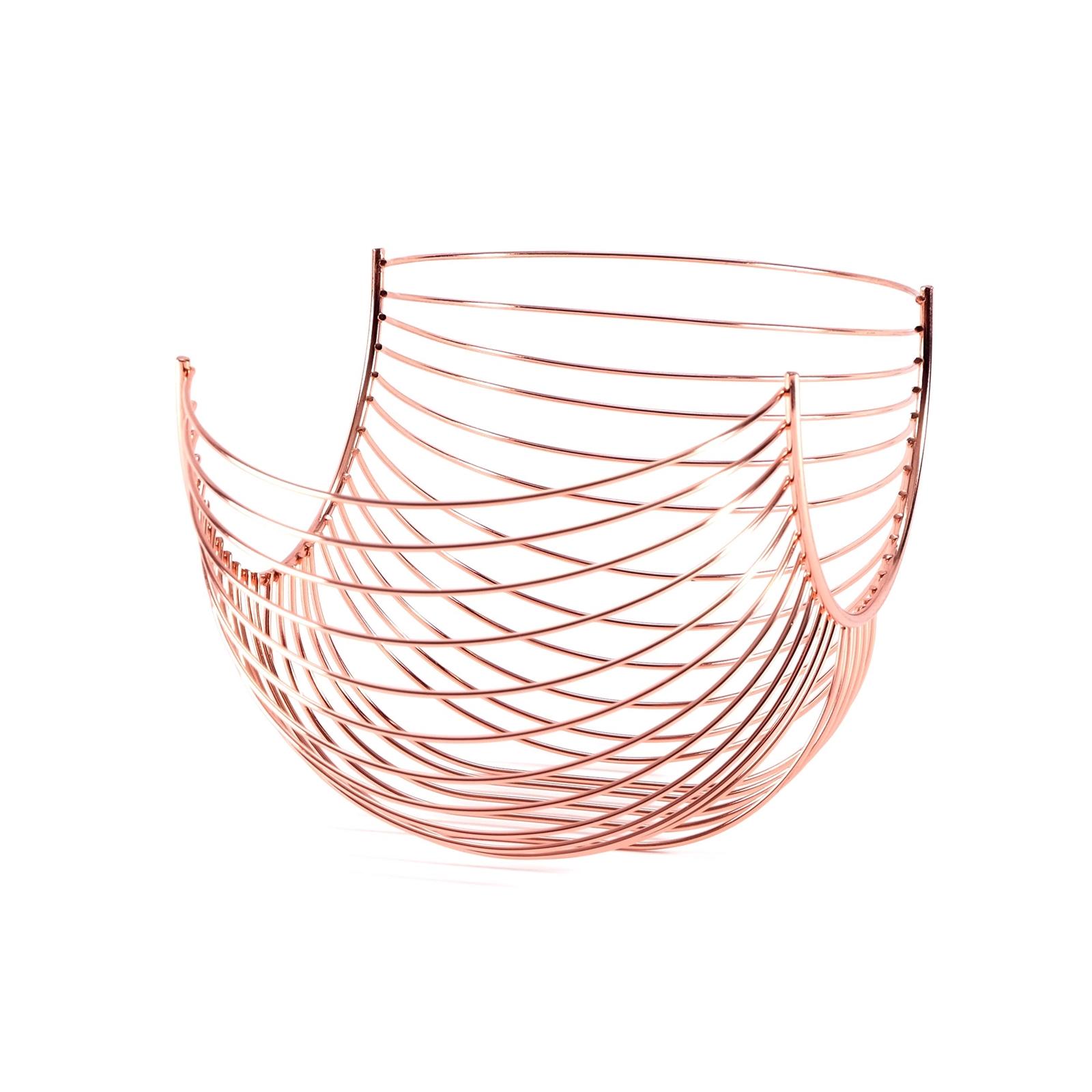 Design obstkorb alessia metall kupferfarben 33 cm for Dekoration metall