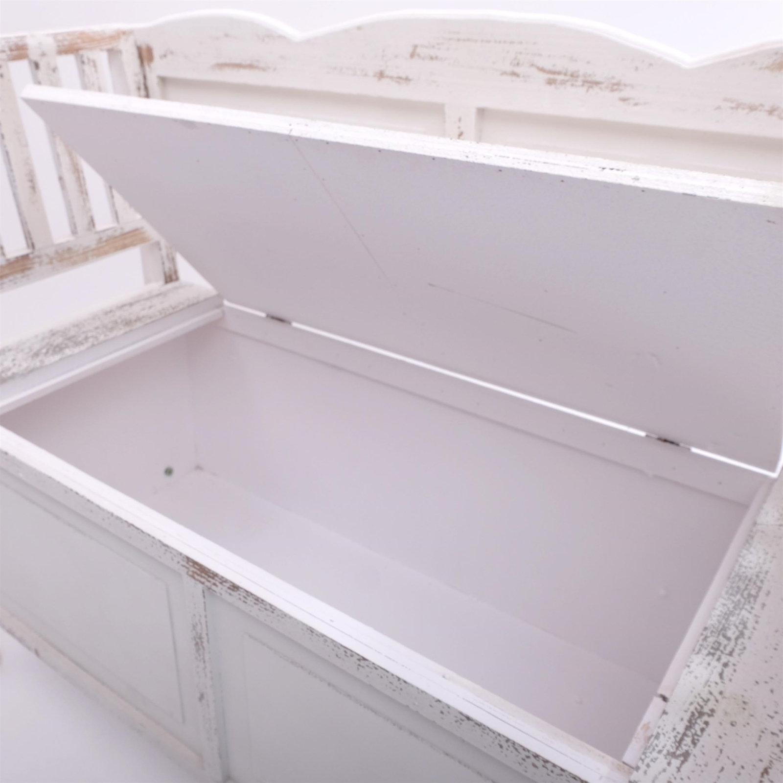 sitzbank farm wei braun 105 cm shabby chic bank. Black Bedroom Furniture Sets. Home Design Ideas