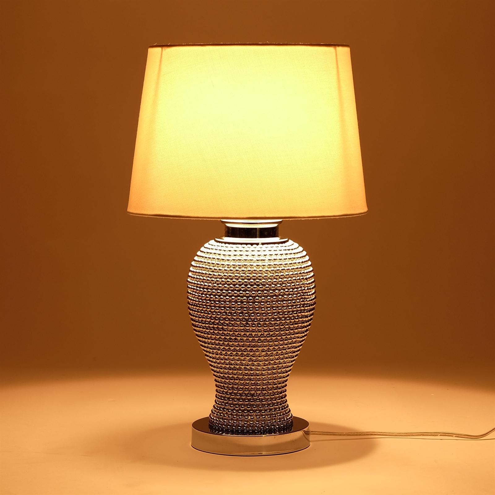 Edle design tischlampe juwel silber 55x31x31 cm for Tischlampe design