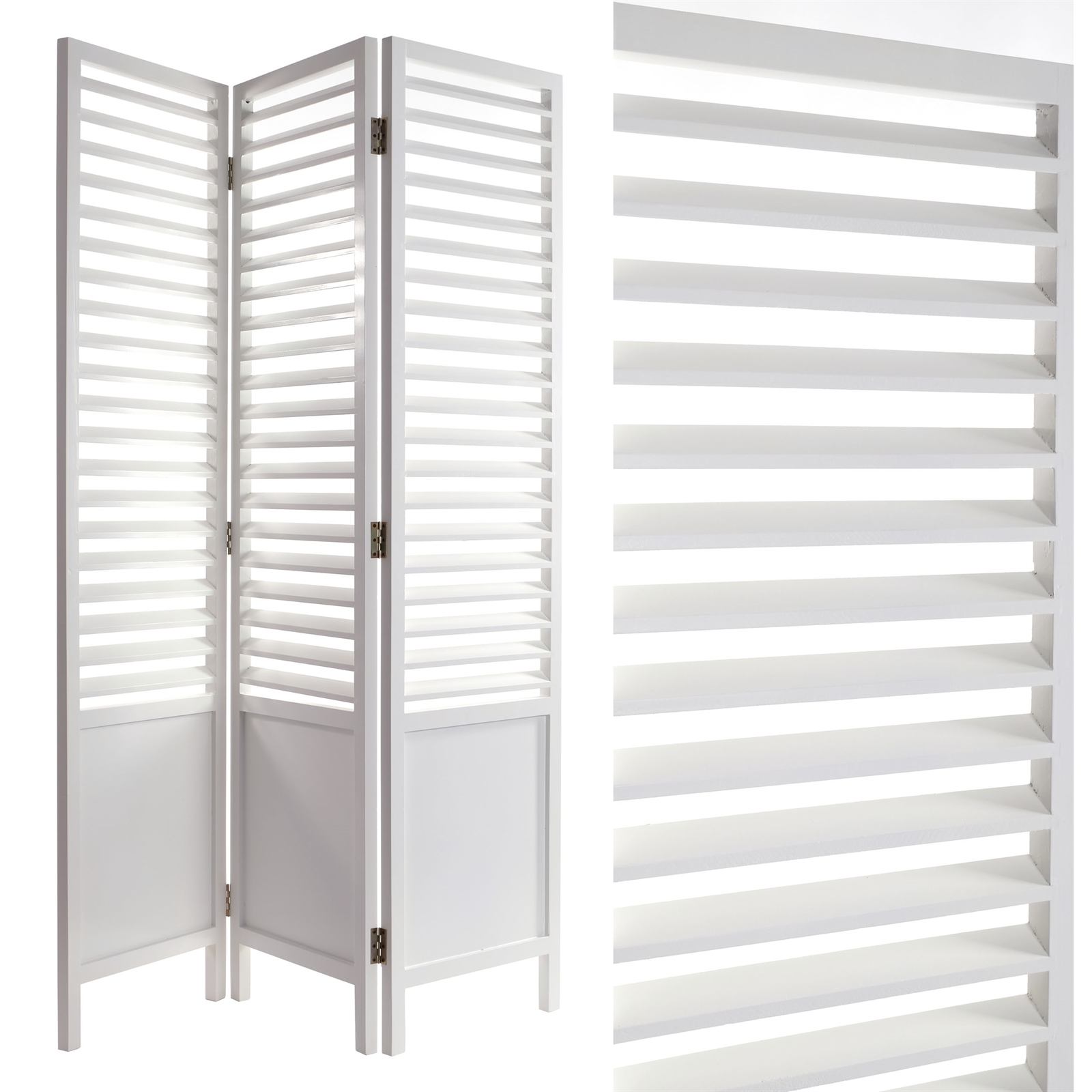 paravent capri 63x48 white room divider partition