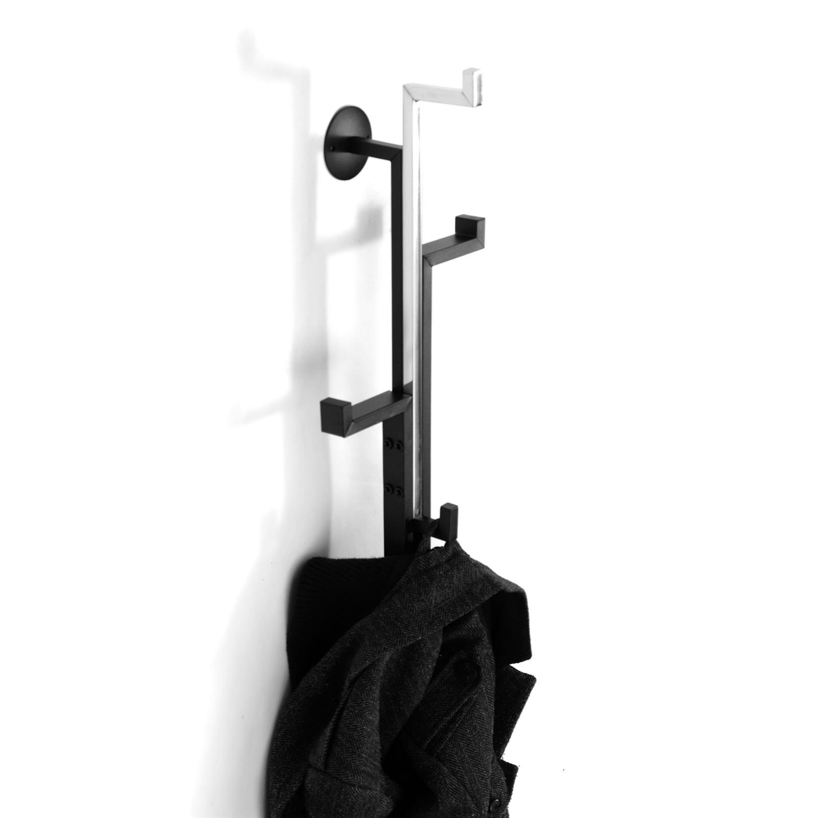 wandgarderobe casino schwarz silber metall 54 cm. Black Bedroom Furniture Sets. Home Design Ideas