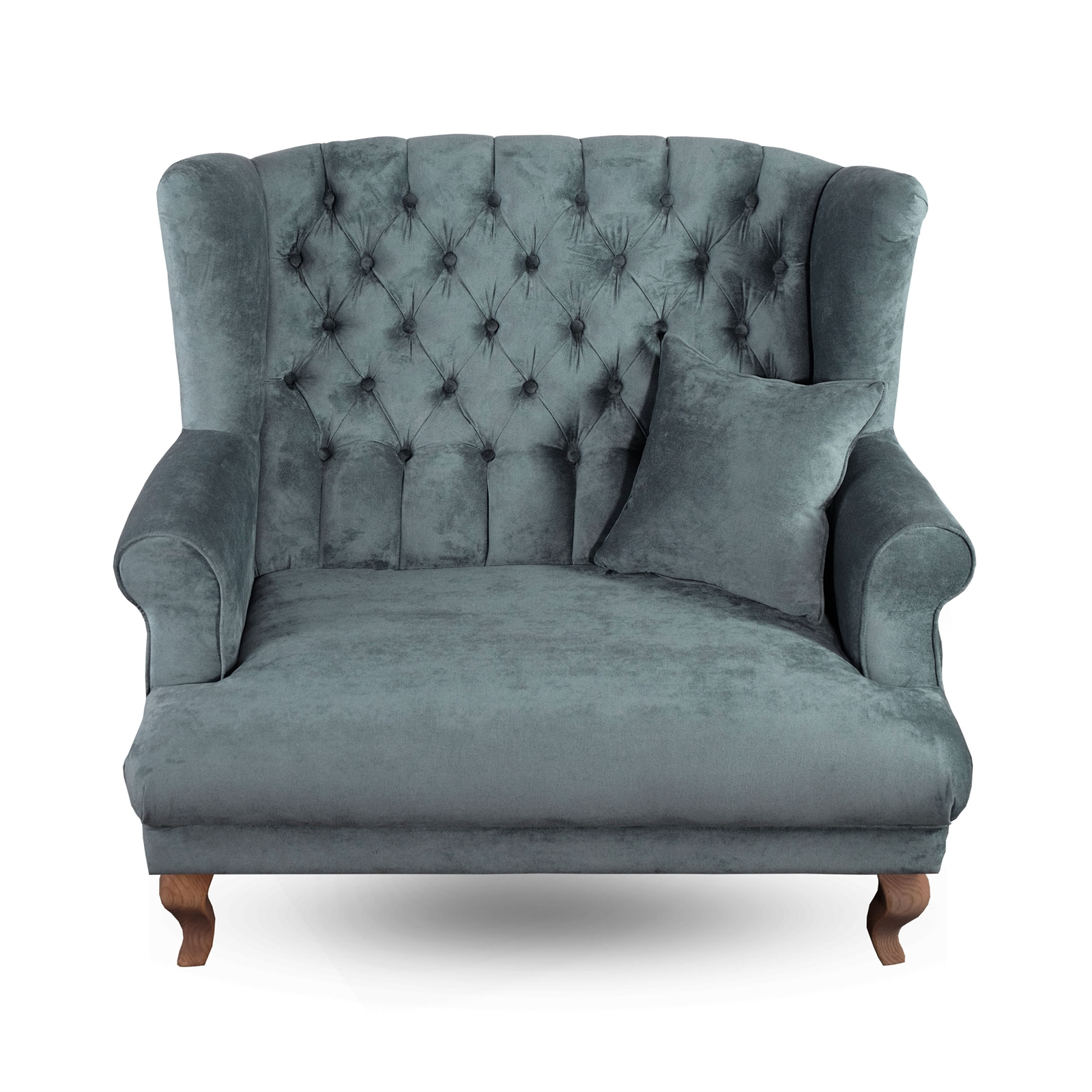 Design Sofa Stockholm 48 Velvet Upholstered Turquoise Living Room Chair Ebay