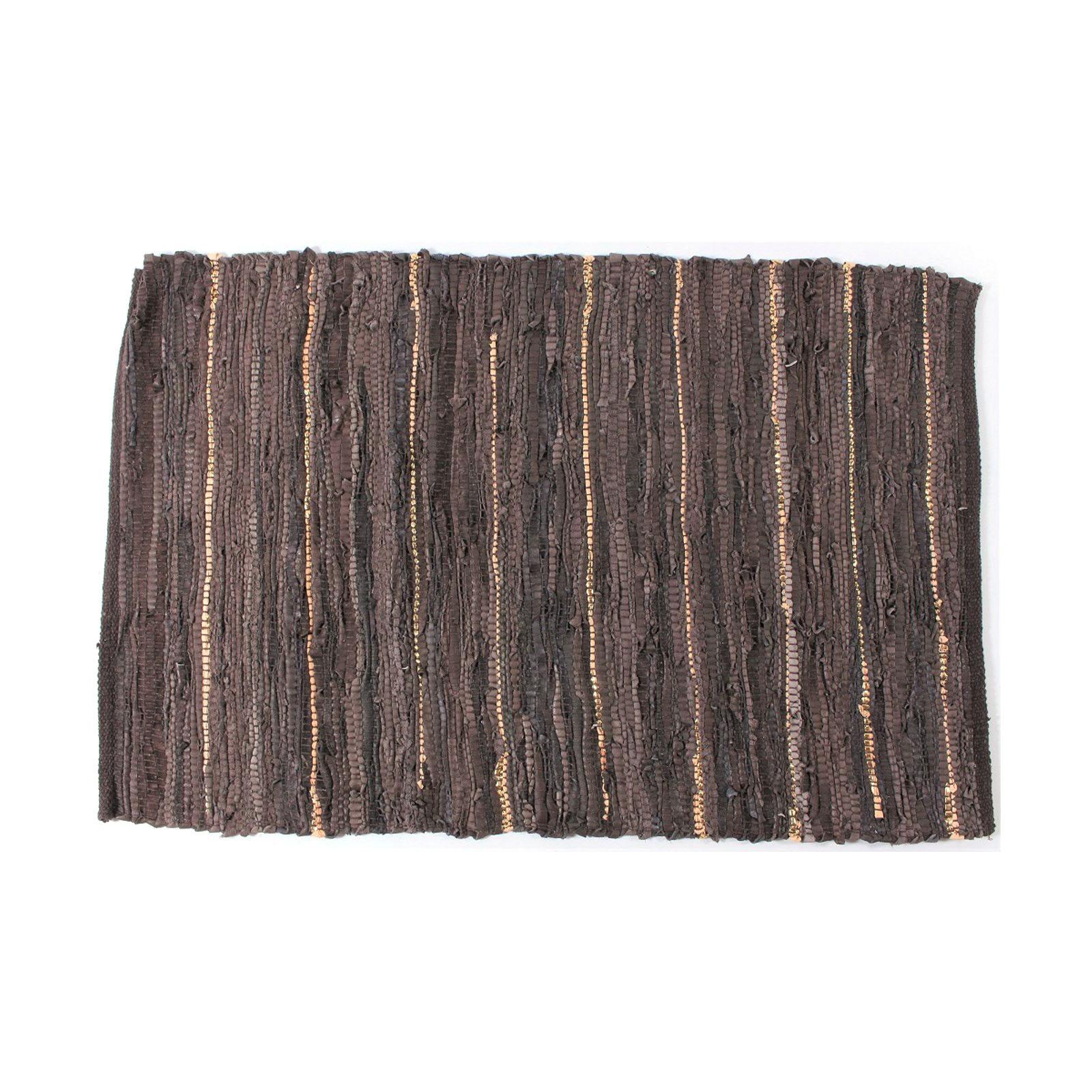 flickenteppich daphne leder braun beige 60x90 cm teppich vorleger ebay. Black Bedroom Furniture Sets. Home Design Ideas
