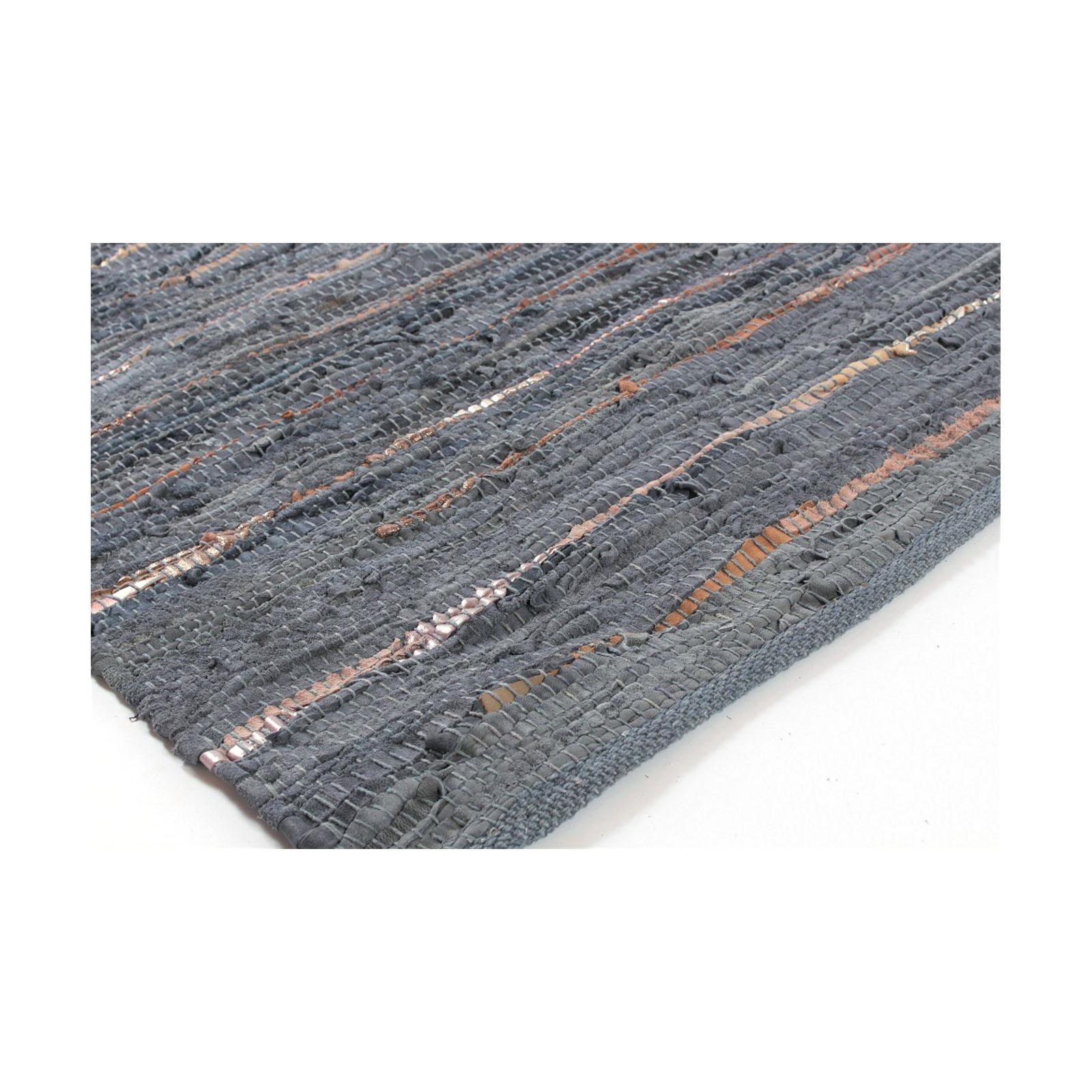 flickenteppich emine leder grau braun 60x90 cm teppich vorleger ebay. Black Bedroom Furniture Sets. Home Design Ideas