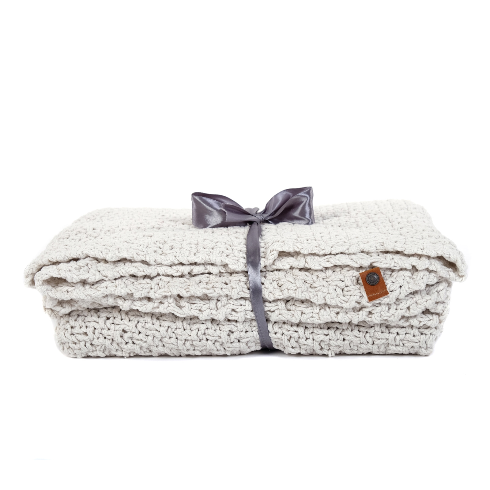 strick plaid svea 130x150 cm cremefarben baumwolle decke wolldecke ebay. Black Bedroom Furniture Sets. Home Design Ideas