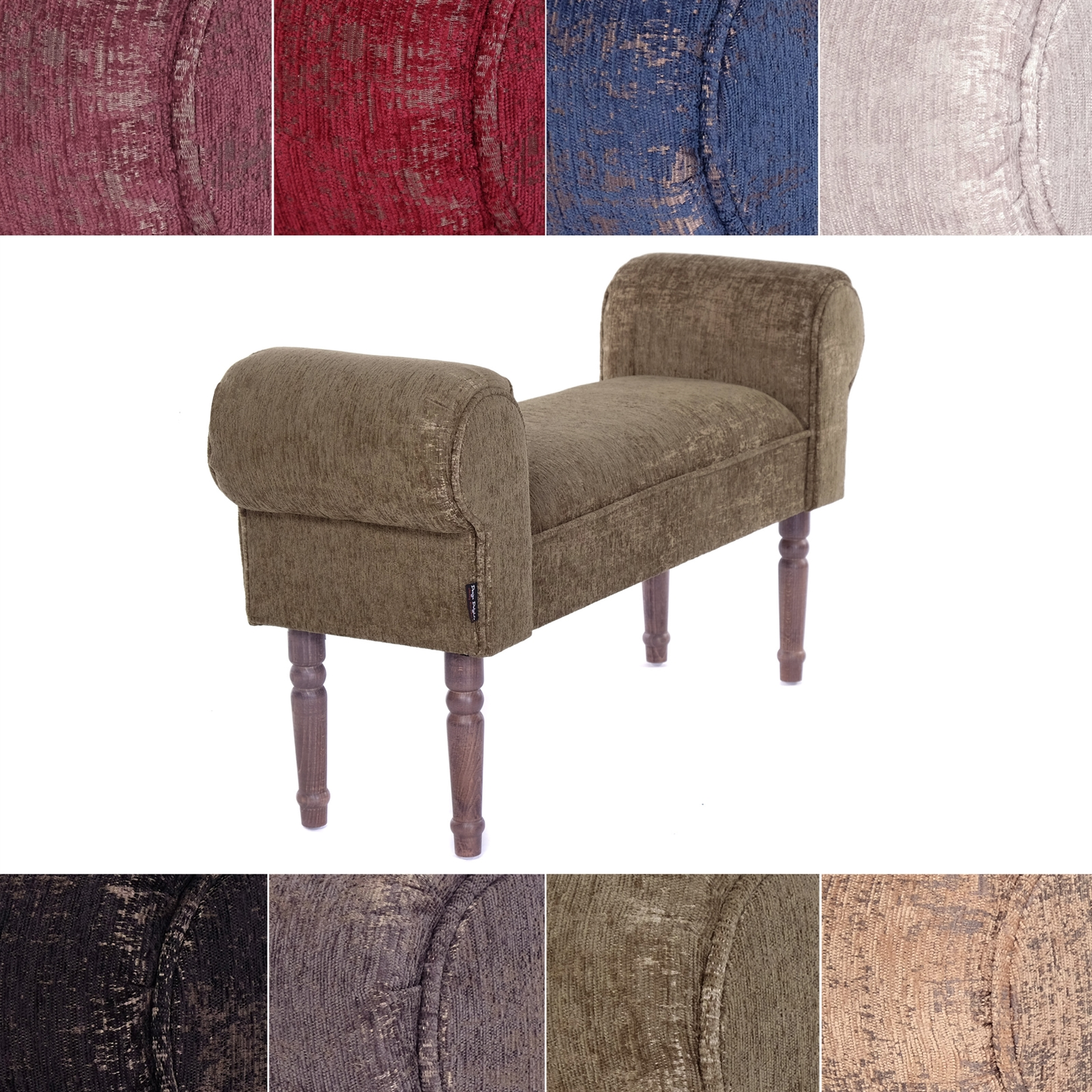 Design Seating Bench Ventura Upholstered Vanity Bench Ebay