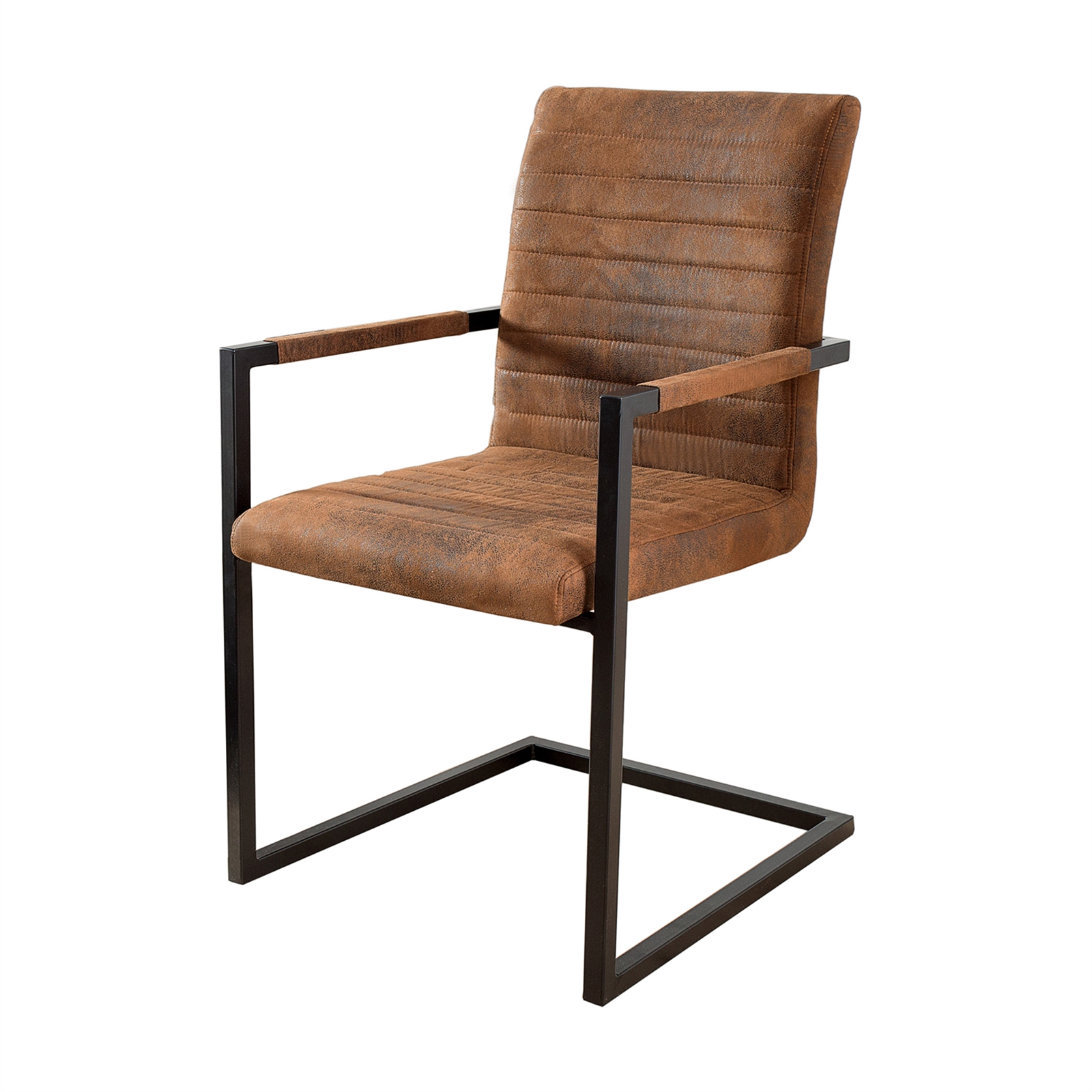 dining chair atlanta artificial leather black brown design
