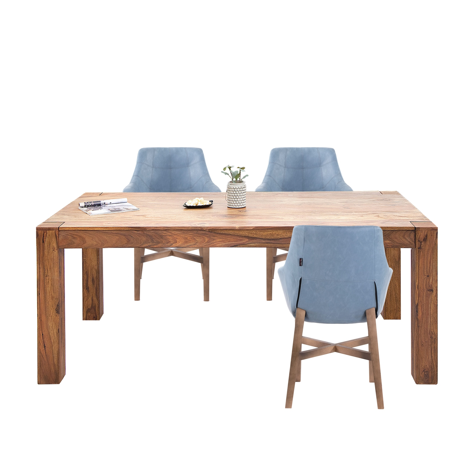 Dining Room Table Belluno Sheesham Solid Wood Kitchen Table Ebay