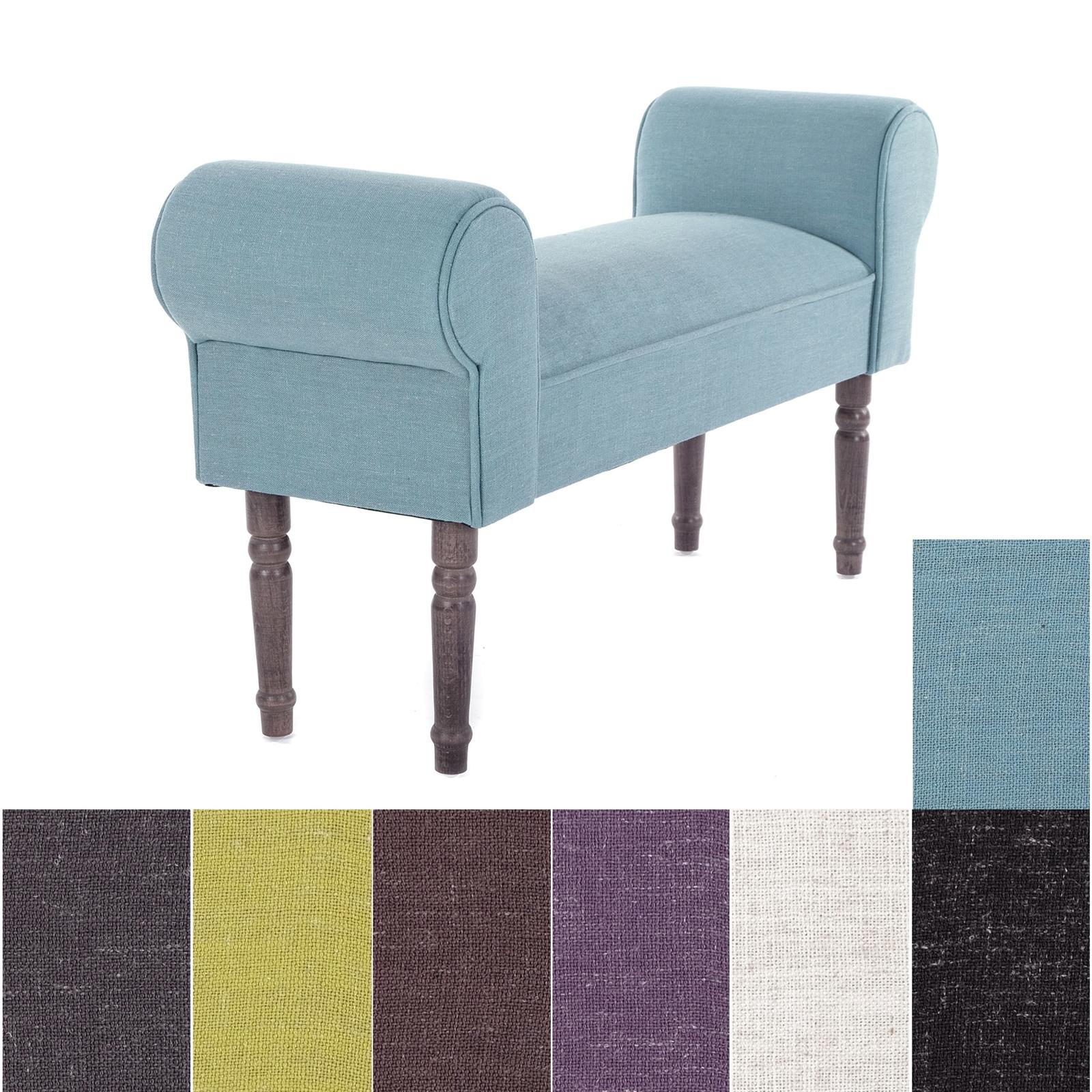 design sitzbank linello vers farben 100cm gepolstert polsterbank flurbank ebay. Black Bedroom Furniture Sets. Home Design Ideas