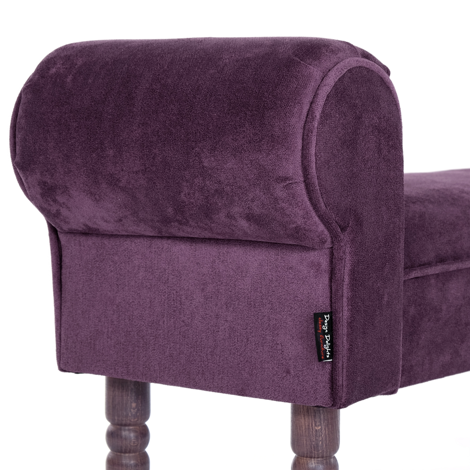 Amazing Small Seating Bench Royal 39 5X19 5X12 Aubergine Pdpeps Interior Chair Design Pdpepsorg