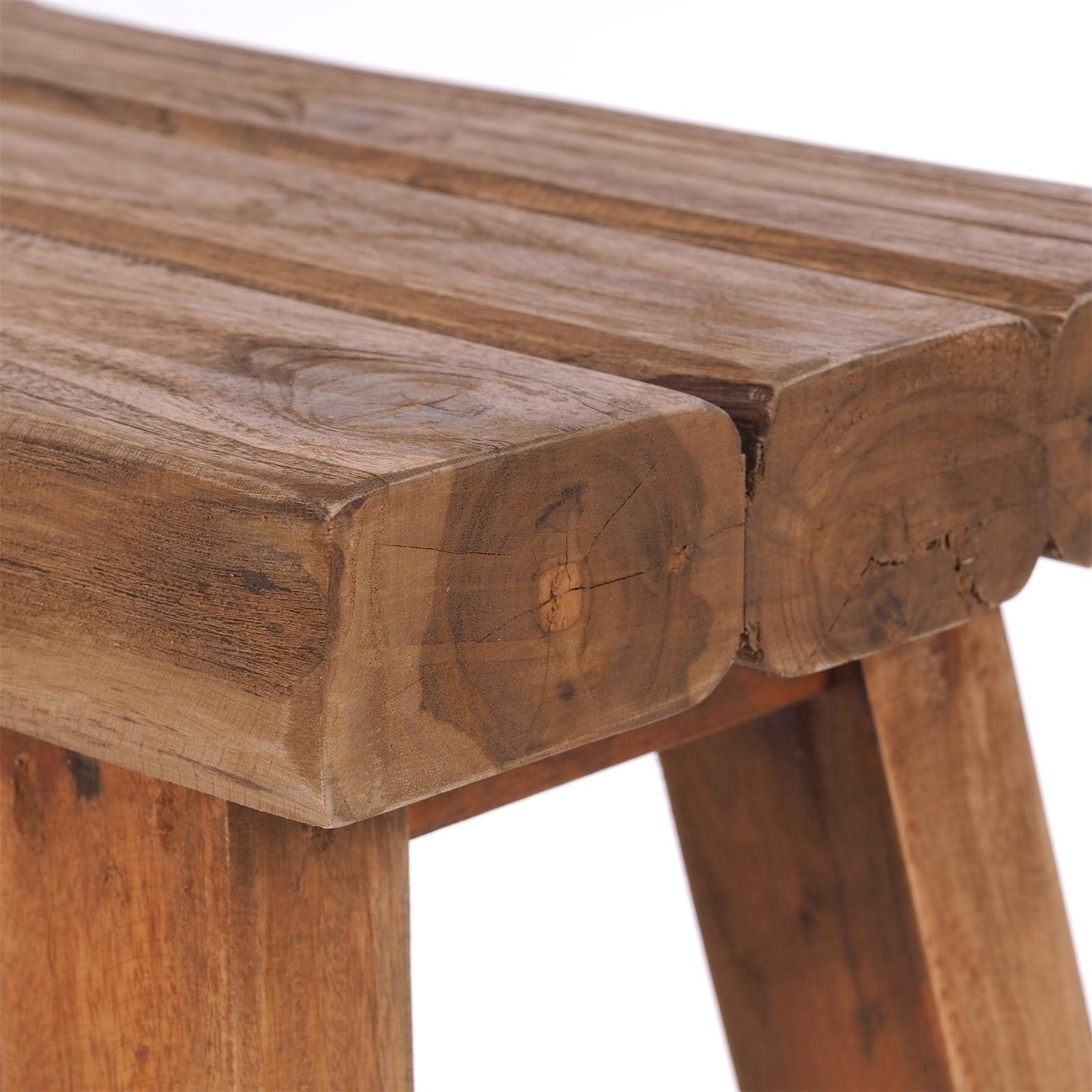 """SCHEMEL /""""RUSTIC/""""Recyclingholz Holz Hocker HxBxT 41x42x24cm"""