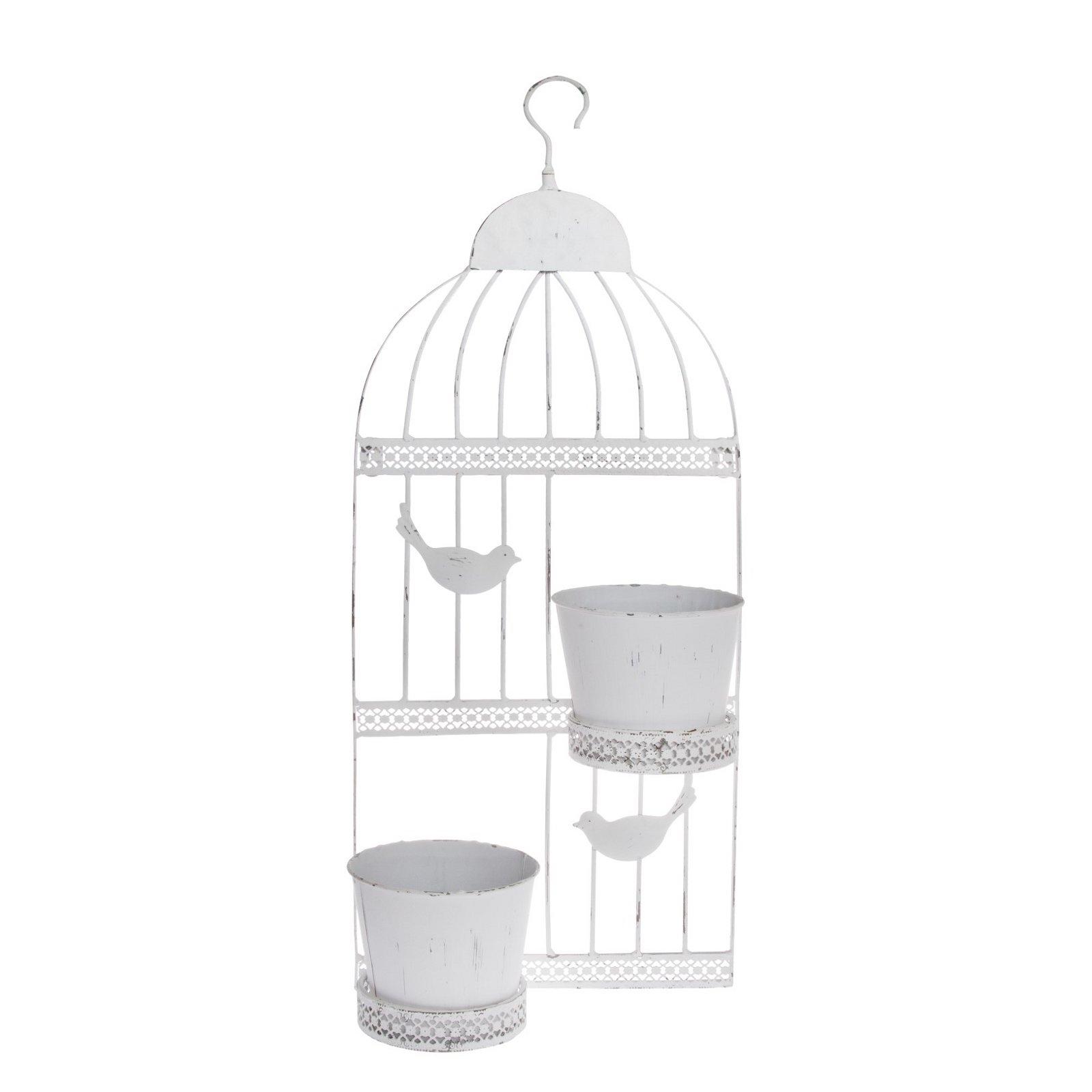 METALL WANDBILD  BIRD    75x28,5x14 cm, cm, cm, weiß, Shabby Style   Wanddekoration ed58c0
