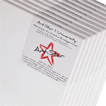 10 ART-STAR Leinwände | 40x40 cm | auf Keilrahmen, 100% Baumwolle