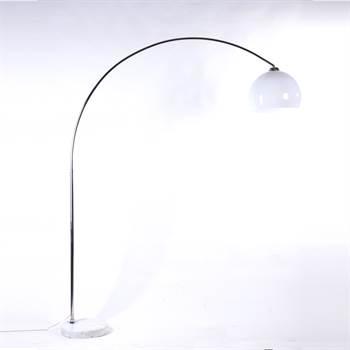 """Retro Design Lampe """"BIG BOW""""  höhenverstellbar bogenlampe weiss"""