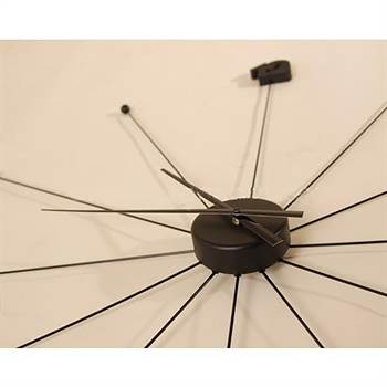 "Giant Design wall clock ""UMBRELLA""  Ø39"" kitchenclock watch L57 black"
