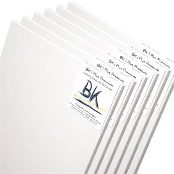 6 B.K. BASIC Leinwände | 50x70 cm | auf Keilrahmen, 100% Baumwolle