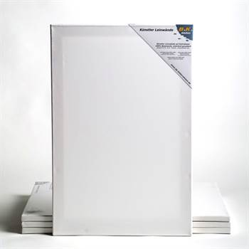 "4 premium stretched blank canvases on stretcher bars ~39x47"" 100x120cm"