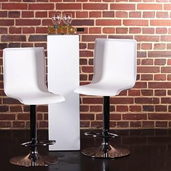 2 DESIGN LEATHER BARSTOOL lounge kitchen bar stool C80 white