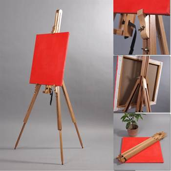 "Portable sketch easel ""KLIMT"" beech wood for stretched artist canvas"