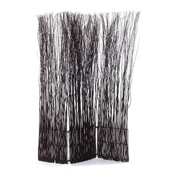 """Room divider """"NATURE"""" partition willow folding screen paravent brown"""