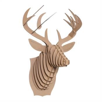 """3D """"CARDBOARD SAFARI""""  wall mounted trophy decor large brown"""