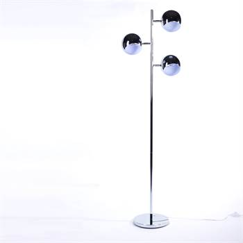 DESIGN LOUNGE BALL FLOOR LAMP retro office light silver
