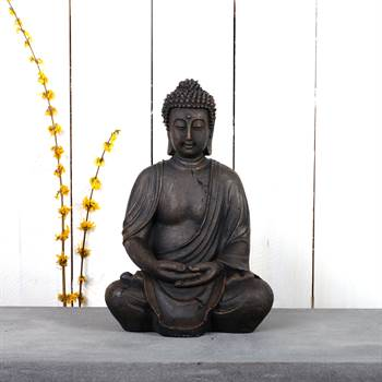 "Sitzende Buddha Statue ""LOTUS"" Asia Skulptur Garten Figur"