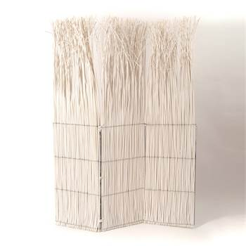 """Room divider """"NATURE"""" paravent white willow wood folding screen"""