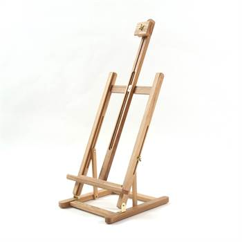 "Wooden table easel ""TAVOLO"" for stretched canvas painting studio"