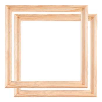 2 WOOD TRAY SHADOW GAP FRAMES FOR ARTIST CANVAS 40x40cm
