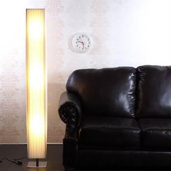"""Huge design floor lamp """"PLISSÉ"""" 160cm lounge feel-good light white"""