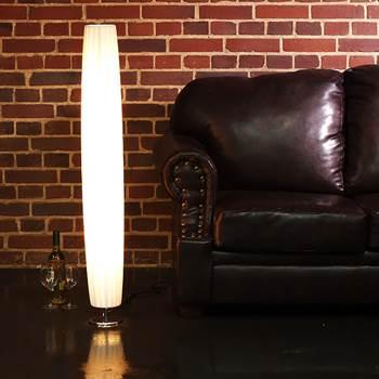"""Runde Design Stehleuchte """"PLISSEE 120"""" Lounge Lampe Stehlampe weiss"""