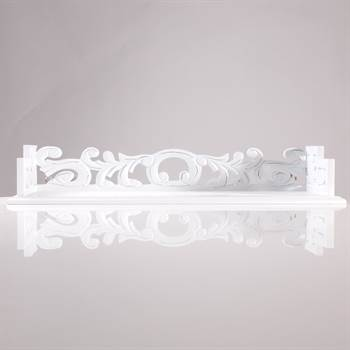 "Holz Wandregal ""WHITE PASSION"" shabby chic regal weiss 61cm"