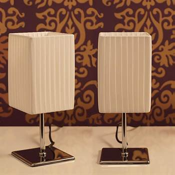 """2er Lounge Design Tischlampe """"DELICIA"""" L22 Nachttischlampe weiß"""