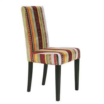 """Eleganter Design Stuhl """"BRITAIN"""" Esszimmerstuhl mit Streifenmuster"""