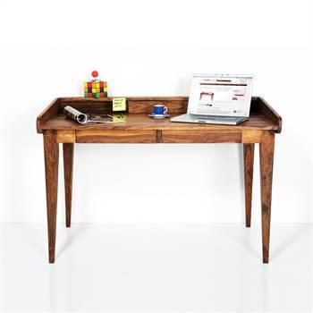 """Design Holz Sekretär """"AUTHENTICO"""" Schreibtisch Massivholz 118 cm"""