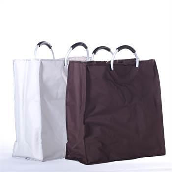 "Big shopper bag ""SHOPPING"" handbag tote with 2 cases"