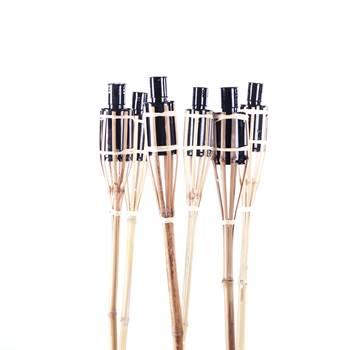 """6er Set Bambus """"GARTENFACKEL"""" 120 cm Aussenbeleuchtung Party"""