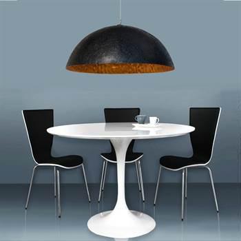 "Drop-Light ""MOONRISE"" | 19.5"", glass fiber, black/gold | ceiling light"