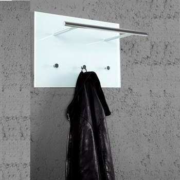 "Design wardrobe ""AZARETTI"" clothes hook 20"" glass chrome"