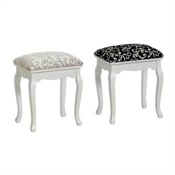 "Elegant stool ""BAROQUE"" for dressing table or piano upholstered"